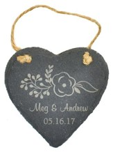 Personalized, Slate Ornament, Heart