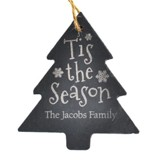 Personalized, Slate Ornament, Tis The Season, Tree