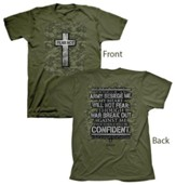 Military Cross Shirt, Green, 4X