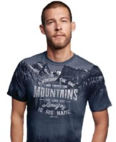 I Worship the One Who Formed the Mountains Shirt, Gray, XXX-Large