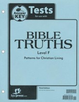 BJU Press Bible Truths Level F (Grade 12) Tests Answer Key, Third Edition
