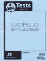 BJU World Studies Grade 7 Test Pack Answer Key, Third Edition