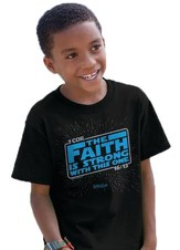 Faith Is Strong Shirt, Black, Youth Medium