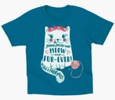 Jesus Love Me Meow and Furever Shirt, Blue, 4T