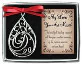 My Love, Filigree Tear Ornament
