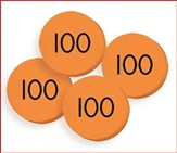 100 Hundreds (100) Place Value Discs Set