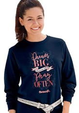 Dream Big, Long Sleeve Shirt, Navy Blue, XX-Large