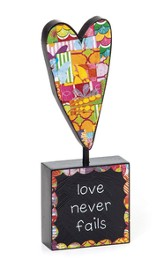 Love Never Fails Tabletop Sculpture