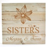Personalized, Wooden Box Sign, with Flower