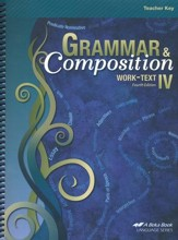 Abeka Grammar & Composition IV Work-text Teacher Key