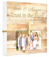 Personalized Box Photo Frame with Clothes-pins, Trust in the Lord