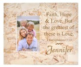 Personalized, Photo Frame Box, 4X6, Faith Hope Love, Particle Board