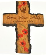 Personalized, Barky Cross, with Dove, Floral