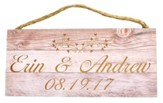 Personalized, Hanging Sign, Wood, Names with Date