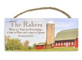 Personalized, Hanging Sign, Farm, Esslesiastes 3:1-2