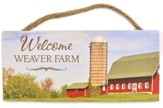 Personalized, Hanging Sign, Farm, Welcome to Our Farm