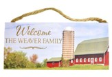 Personalized, Hanging Sign, Farm, Welcome