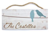 Personalized, Hanging Sign with Birds, Family
