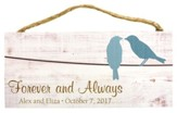 Personalized, Hanging Sign, Birds, Forever and Always