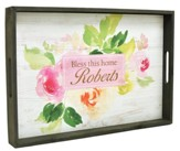 Personalized, Tray with Floral Design, Bless This Home