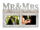 Personalized, Photo Frame, 4X6, Mr & Mrs, Grey