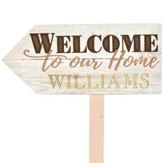 Personalized, Yard Sign, Welcome