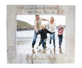 Personalized, 8x10 Photo Frame, As For Me and My House, White