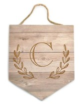 Personalized, Monogrammed Hanging Sign, Faux Wood