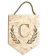 Personalized, Monogrammed Hanging Sign, Faux Particle  Board