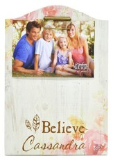 Personalized, Photo Clipboard, Believe, Floral