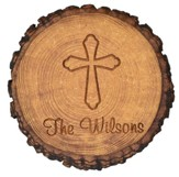 Personalized, Barky Magnet with Cross, Round
