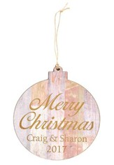 Personalized, Ornament, Round, Merry Christmas