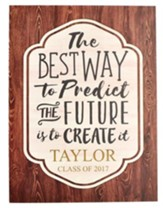 Personalized, Plaque, Large with Wood Grain, Graduation
