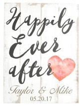 Personalized, Plaque, Large, Happily Ever After,Wedding