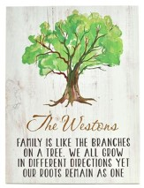 Personalized, Plaque, Family Tree, Large