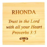 Personalized, Bamboo Magnet, Trust In The Lord