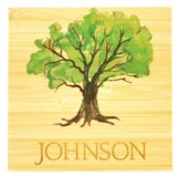Personalized, Bamboo Magnet with Tree