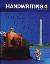 BJU Handwriting Grade 4 Student  Worktext, Second Edition  (Updated Copyright)