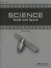 Abeka Science: Earth and Space Quiz Key