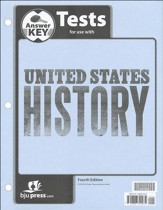 BJU U.S. History Grade 11 Test Pack Answer Key (Fourth Edition)