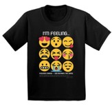 I'm Feeling Shirt, Black, Youth Large