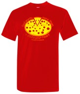 Pizza Heart Shirt, Red, Medium