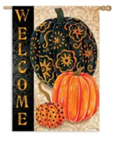 Elegant Pumpkins Flag, Large