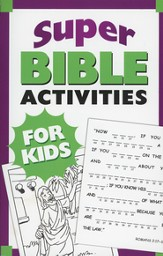 Super Bible Activities for Kids - Slightly Imperfect