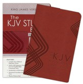 KJV Study Bible: Students' Edition - leather-look, burgundy  - Slightly Imperfect