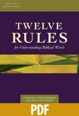 Twelve Rules for Understanding Biblical Words - PDF Download [Download]