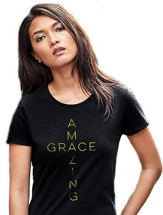 Amazing Grace Shirt, Black, XXX-Large