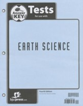 BJU Earth Science Grade 8 Test Pack Answer Key, 4th Edition