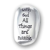 With God All Things Are Possible Pocket Stone