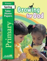 Growing for God Primary (Grades 1-2) Take-Home Papers